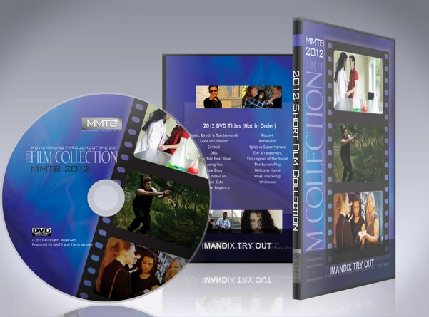 2012 DVD label and case design